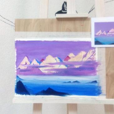В мастерской «ИЮль» прошёл творческий вечер на тему «Н.К. Рерих «Розовые горы»