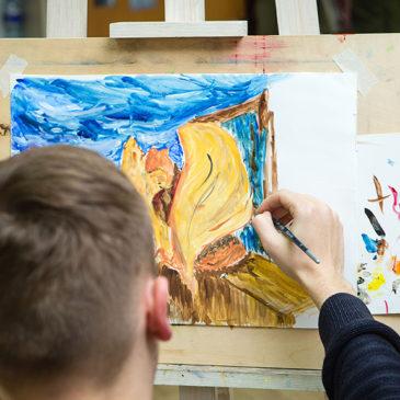"""27 декабря 2019 года в мастерской """"ИЮль"""" прошел творческий вечер на тему """"Бетховен и живопись""""."""
